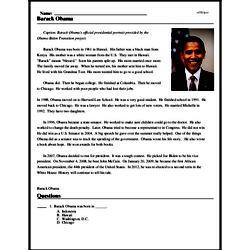 Print <i>Barack Obama</i> reading comprehension.