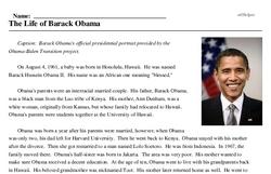 The Life of Barack Obama