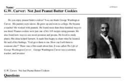 G.W. Carver: Not Just Peanut Butter Cookies