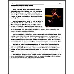 Print <i>Alaskan Maverick Sarah Palin</i> reading comprehension.