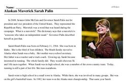 Alaskan Maverick Sarah Palin