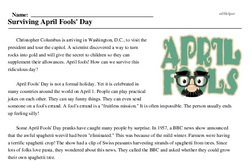 Surviving April Fools' Day