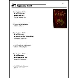 Print <i>If You Happen on a Hobbit</i> reading comprehension.