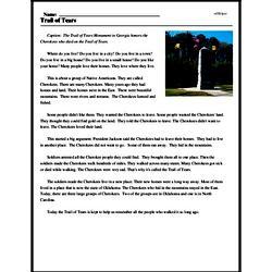 Print <i>Trail of Tears</i> reading comprehension.