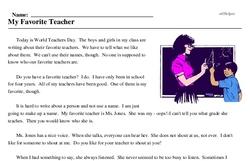 My Favorite Teacher