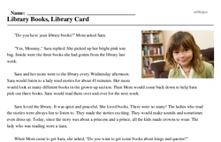 Library Books, Library Card