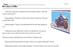 He Likes to Bike