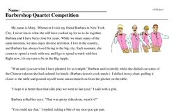 Barbershop Quartet Competition