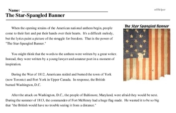 Anthem Day<BR>The Star-Spangled Banner