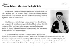 Thomas Edison: More than the Light Bulb