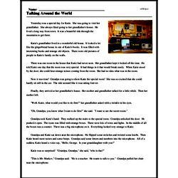 Print <i>Talking Around the World</i> reading comprehension.