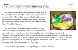 Myli Learns About Louisiana Style King Cakes