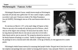 Michelangelo<BR>Michelangelo - Famous Artist