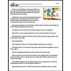 Print <i>Daria's Job</i> reading comprehension.