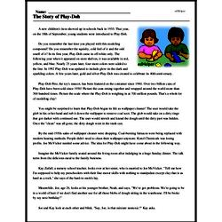 Print <i>The Story of Play-Doh</i> reading comprehension.