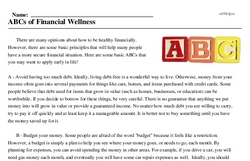 ABCs of Financial Wellness