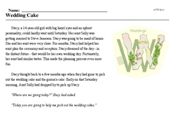 Print <i>Wedding Cake</i> reading comprehension.