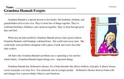 Grandma Hannah Forgets