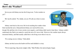 Print <i>How's the Weather?</i> reading comprehension.