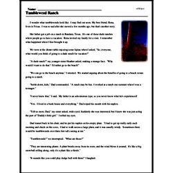 Print <i>Tumbleweed Ranch</i> reading comprehension.