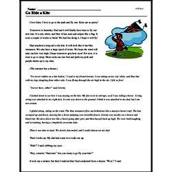Print <i>Go Ride a Kite</i> reading comprehension.