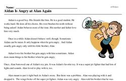 Aidan Is Angry at Alan Again