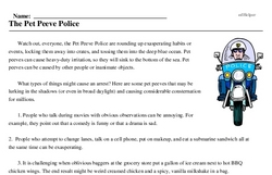 The Pet Peeve Police