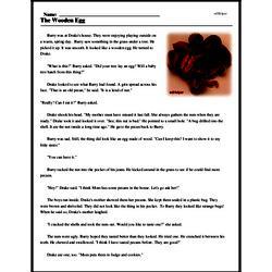 Print <i>The Wooden Egg</i> reading comprehension.