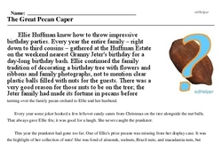 Pecan Day<BR>The Great Pecan Caper