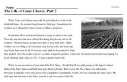 The Life of Cesar Chavez, Part 2