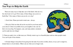 Ten Ways to Help the Earth