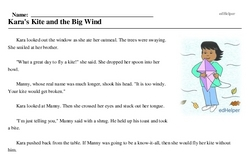 National Kite Month<BR>Kara's Kite and the Big Wind