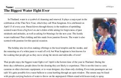 Print <i>The Biggest Water Fight Ever</i> reading comprehension.