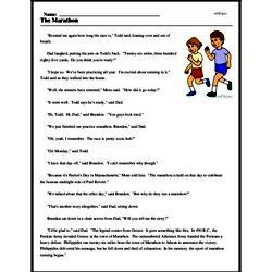 Print <i>The Marathon</i> reading comprehension.