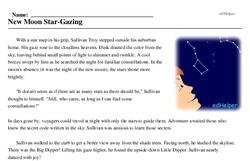 Print <i>New Moon Star-Gazing</i> reading comprehension.