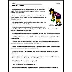 Print <i>Porric the Penguin</i> reading comprehension.