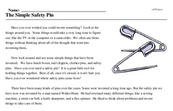 Safety Pin Day<BR>The Simple Safety Pin