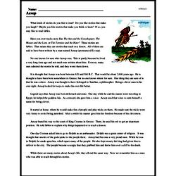 Print <i>Aesop</i> reading comprehension.