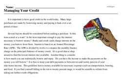 National Credit Awareness Day<BR>Managing Your Credit