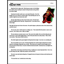 Print <i>King Sam's Mirth</i> reading comprehension.