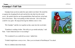 Paul Bunyan Day<BR>Grandpa's Tall Tale