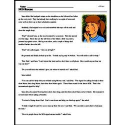 Print <i>SOS Rescue</i> reading comprehension.