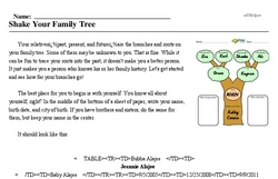 Roots & Branches Month<BR>Shake Your Family Tree