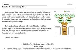 Print <i>Shake Your Family Tree</i> reading comprehension.