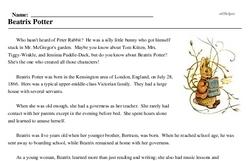 Beatrix Potter's birthday<BR>Beatrix Potter