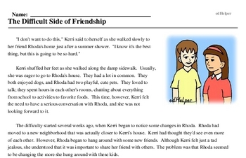 Friendship Day<BR>The Difficult Side of Friendship