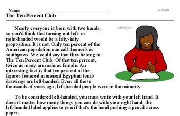 International Lefthanders Day<BR>The Ten Percent Club