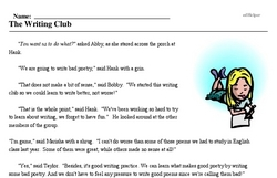 Bad Poetry Day<BR>The Writing Club