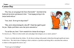 Print <i>Career Day</i> reading comprehension.