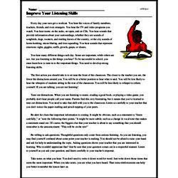 Print <i>Improve Your Listening Skills</i> reading comprehension.